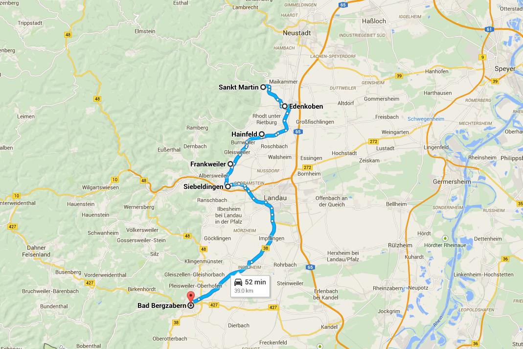 Road Trip Strada del Vino - Mappa da Sankt Martin