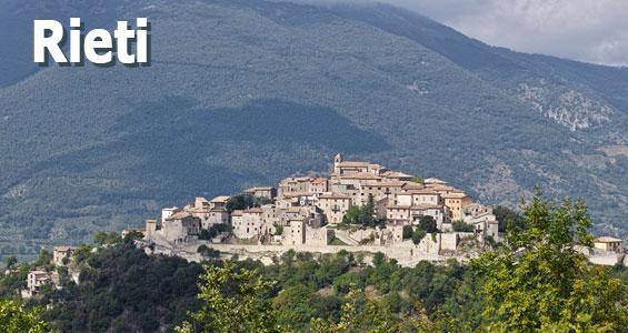 Italien Road Trip översikt Rieti