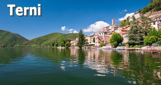 Italien Road Trip översikt Terni
