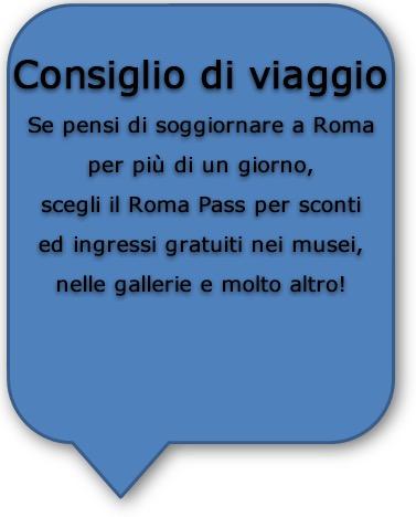 Consigli Road Trip Italia - Roma Pass