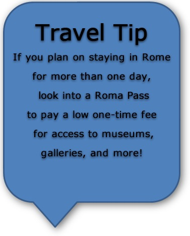 Italia Road Trip Tips - Roma Pass