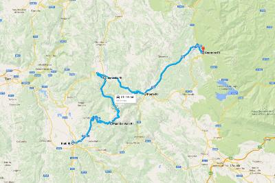 Italia Road Trip Amatrice Map