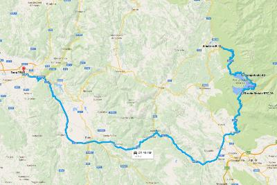 Italy Road Trip Terni Map