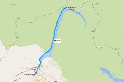 Road Trip Tirolo - Mappa con itinerario in auto per Livigno