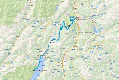 Italy Road Trip Overview Trento Route Map