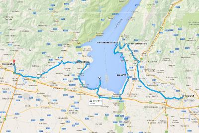 Italy Road Trip Overview Verona Route Map