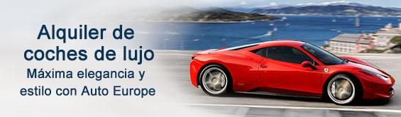 Alquiler de coches de lujo con Auto Europe