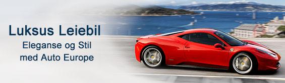 Eksklusive leiebiler med Auto Europe Luksus leiebil