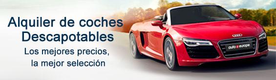 Alquiler de coches descapotables con Auto Europe