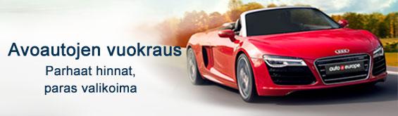 Vuokraa avoauto Auto Europe