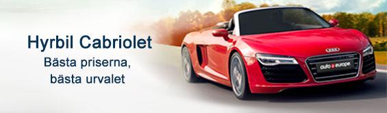 Cabriolet hyrbil med Auto Europe