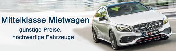 Mittelklasse Mietwagen Europa