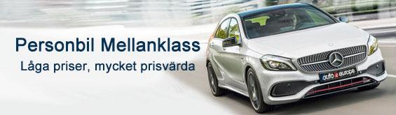 Du kan hyra en bil i mellanklassen med Auto Europe
