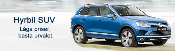 En blå VW SUV hyrbil