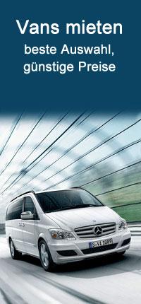 VAN Autovermietung mit Auto Europe