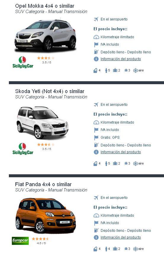 Alquiler de coche SUV con Auto Europe