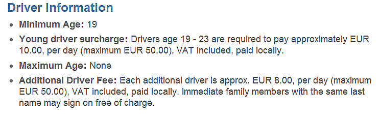 Under 25 Car Rental Age Minimum