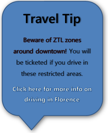 Florence Driving Travel Tip