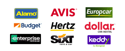 Прокатные компании Auto Europe: Hertz, Avis, Dollar, Budget, Enterprise, National, Europcar, Buchbinder, Peugeot