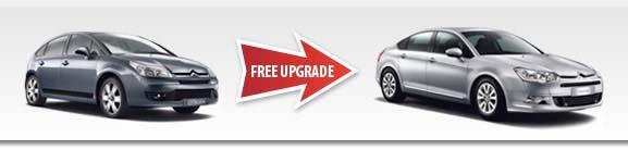 Car hire free upgrade